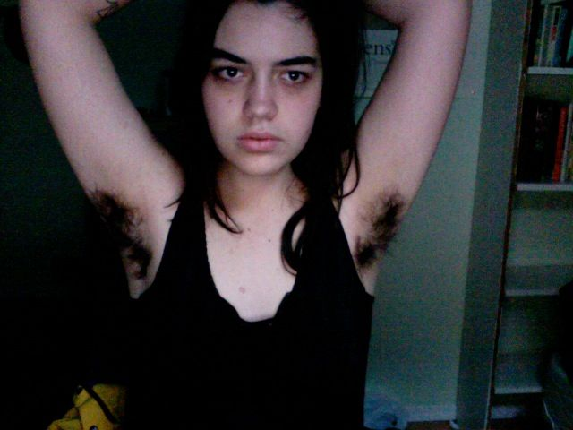 Girl hairy underarms photo