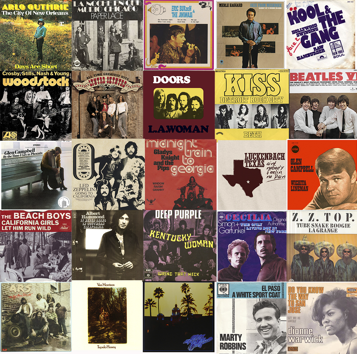 Popular songs of the 1950s and 1960s