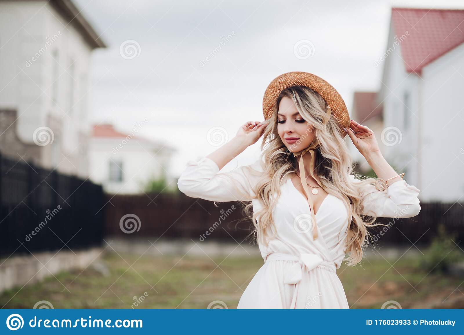 Dress blonde outside photography